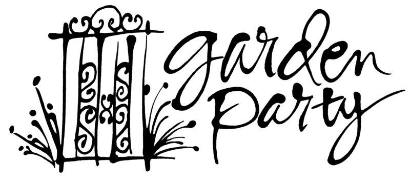 Garden party logo flat