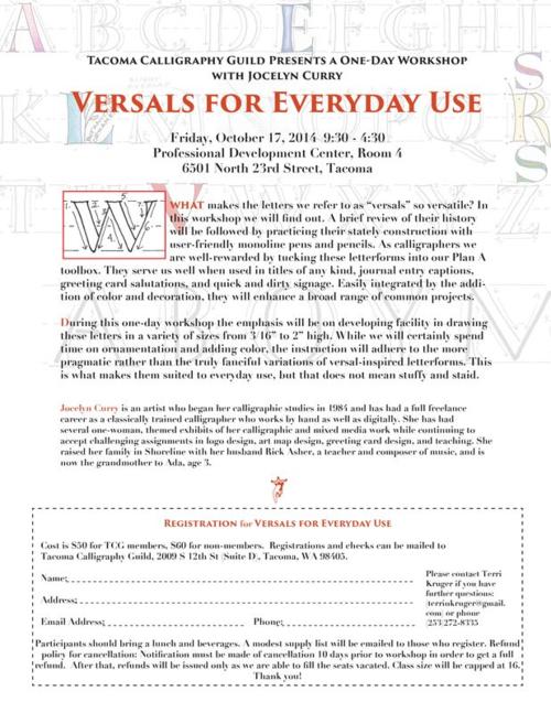 Versals TCG flyer