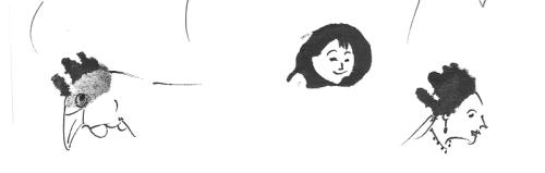 Ink blob faces