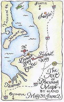 Dumas Bay map sm.